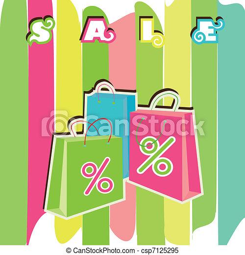 買い物, bags., セール, eps10 - csp7125295