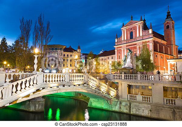 資本, preseren, 広場, slovenia., ljubljana - csp23131888