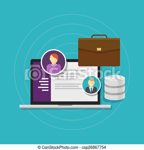 資源, データベース, システム, 人間, 従業員, ソフトウェア - csp26867754