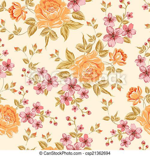 贅沢, シャクヤク, pattern., 色 - csp21362694