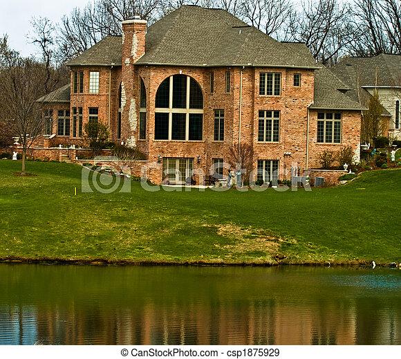 贅沢, 湖, 家 - csp1875929
