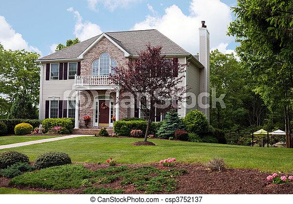 贅沢, 現代, 家 - csp3752137
