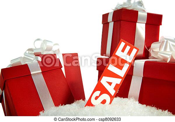 贈り物, クリスマス, セール - csp8092633
