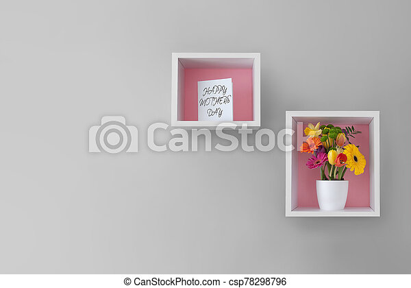 贈り物, 日, 花, 母 - csp78298796