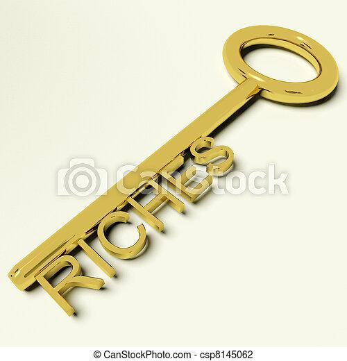 财富, 财富, 金子, 财富, 钥匙, 代表 - csp8145062