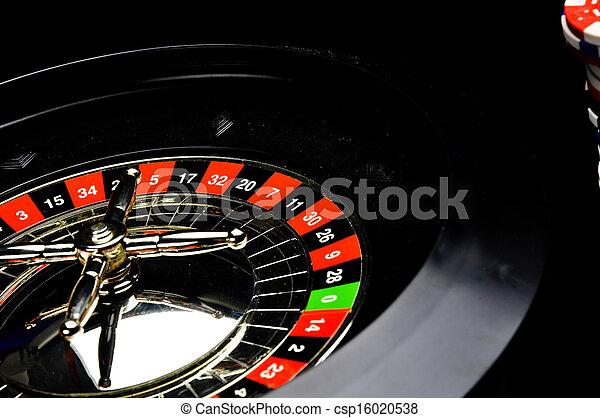 赌博, 游戏, 轮盘赌, 娱乐场 - csp16020538