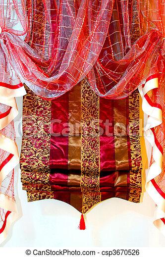 赤いカーテン - csp3670526