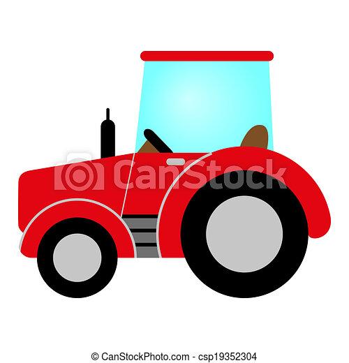 赤いトラクター - csp19352304