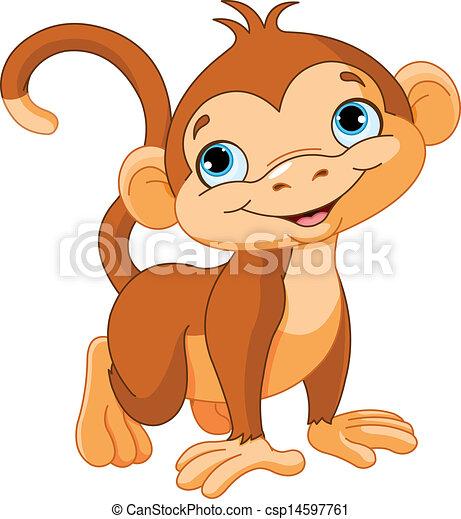 赤ん坊の猿 - csp14597761
