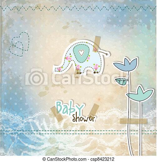 赤ん坊 シャワー, カード - csp8423212