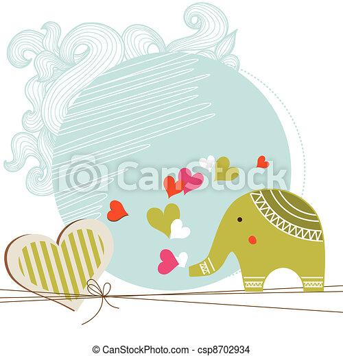 赤ん坊 シャワー, カード, テンプレート - csp8702934