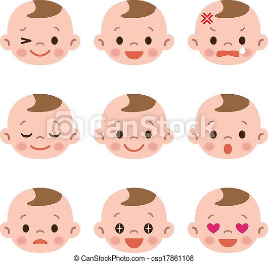 赤ん坊, セット, 表現 - csp17861108
