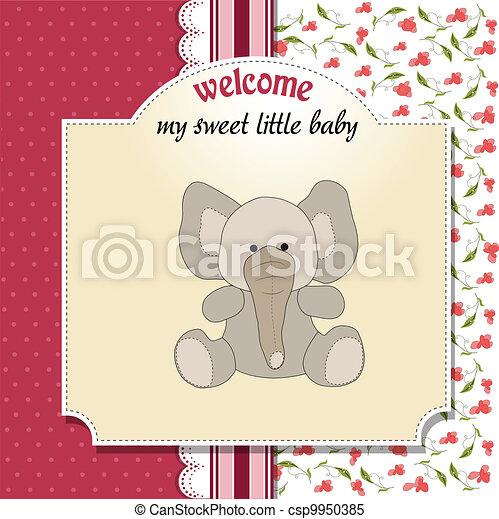 赤ん坊, 発表, ロマンチック, カード - csp9950385