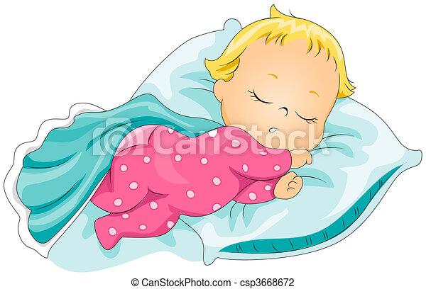 赤ん坊, 睡眠 - csp3668672