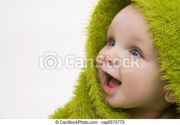 赤ん坊, 緑 - csp0573773