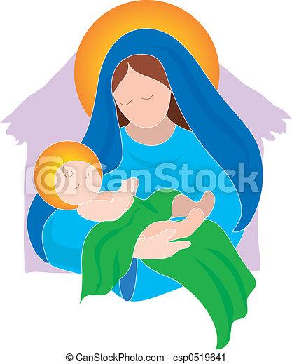 赤ん坊, mary - csp0519641