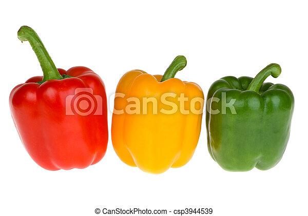 赤, こしょう, 鐘, 緑, 黄色 - csp3944539