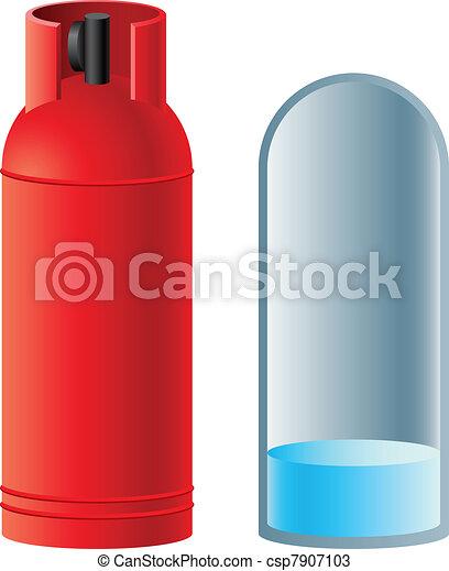赤, ガス, ブタン, シリンダー - csp7907103