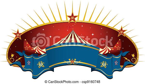 赤, サーカス, 旗 - csp9160748