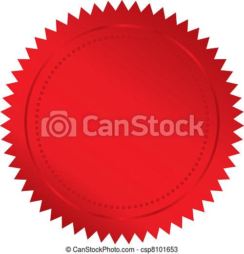 赤, シール - csp8101653