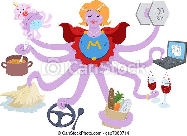 超級媽媽 - csp7080714