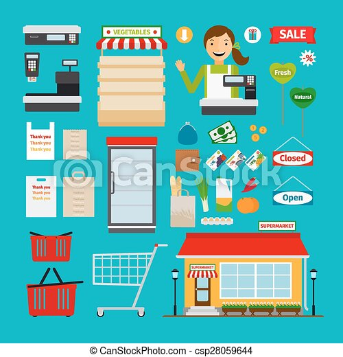 超級市場, 圖象 - csp28059644