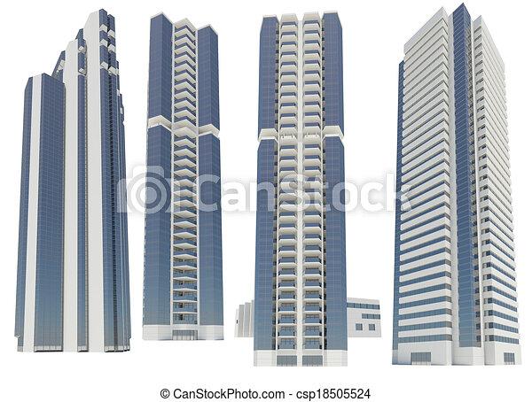 超高層ビル - csp18505524