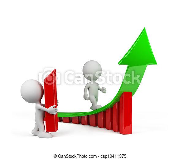 趨勢, 人, 成長, -, 3d - csp10411375