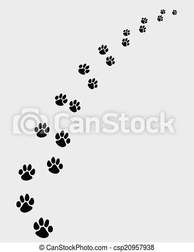 足跡 2 犬 犬 権利 足跡 Vector イラスト 回転 黒