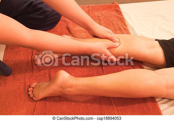 足, 伝統的である, タイ人, reflexology, マッサージ, thailand. - csp18894053