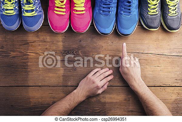 跑鞋, 地板 - csp26994351