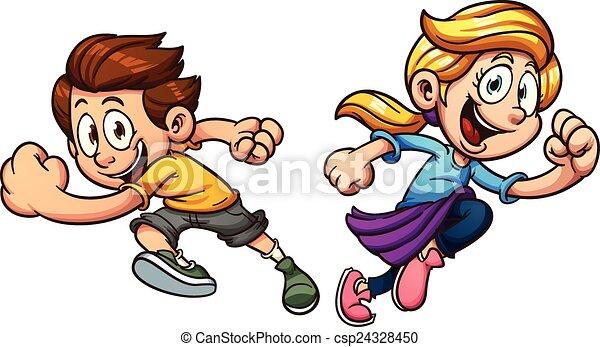 跑, 孩子 - csp24328450