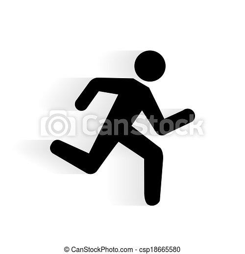 跑, 矢量, 人類, 圖象 - csp18665580