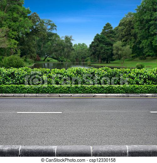 路傍, 公園, 光景 - csp12330158