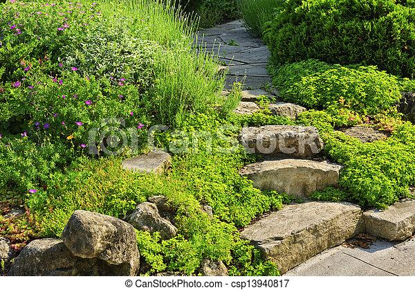 路径, 石头花园, 地形 - csp13940817