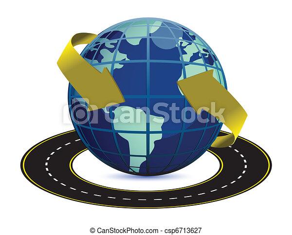 路, 地球, 大約 - csp6713627