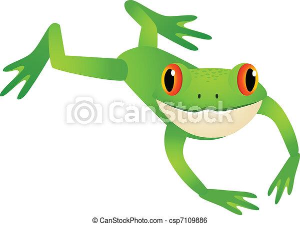 跳躍, カエル - csp7109886