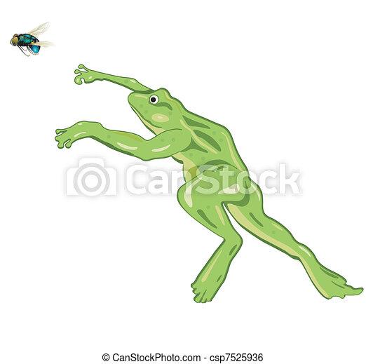 跳躍, カエル - csp7525936