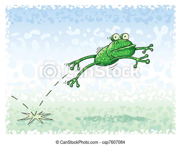 跳躍, カエル - csp7607084