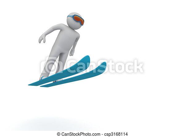 跳躍, スキー - csp3168114