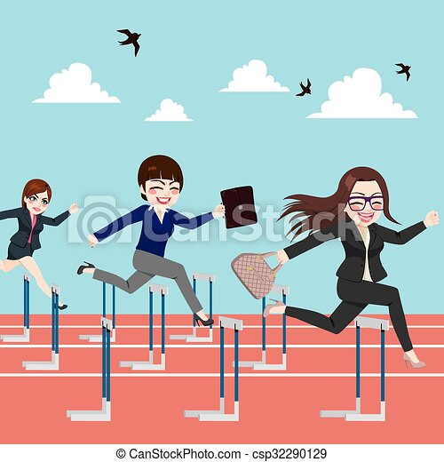 跳躍, ハードル, 女性実業家, 競...
