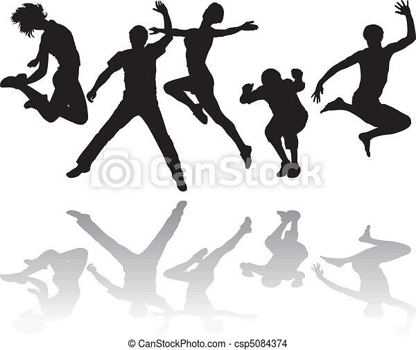 跳躍, 人々 - csp5084374