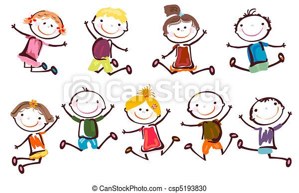 跳躍, 子供 - csp5193830