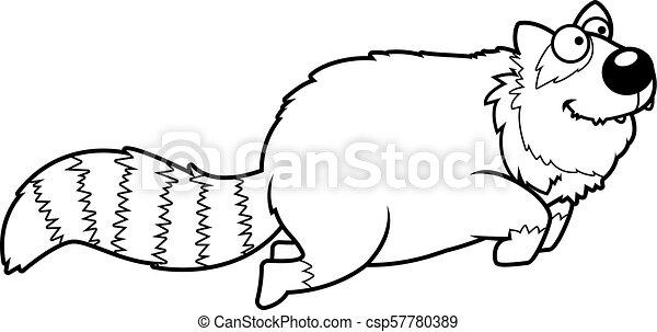 跳躍, 漫画, 赤いパンダ - csp57780389