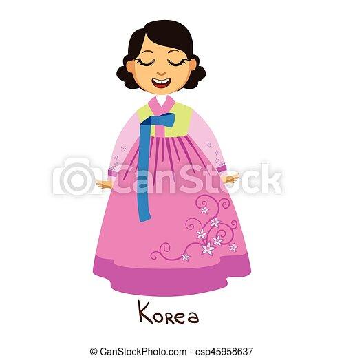 身に着けていること ピンク 韓国 国 国民 衣服 国 伝統的である