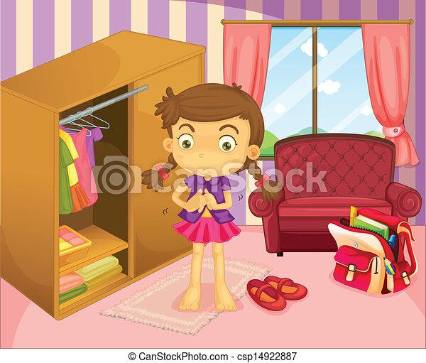 身に着けていること, 女の子, 彼女, ユニフォーム - csp14922887