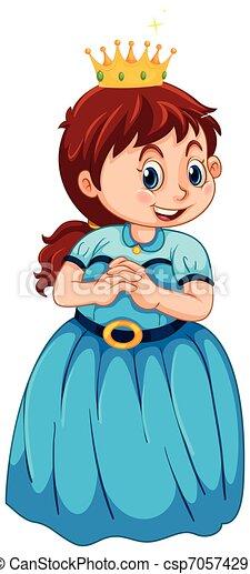 身に着けていること, 女の子, 王女, 衣装 - csp70574291