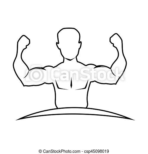 身体, 一半, 肌肉, 侧面影象, 人 - csp45098019