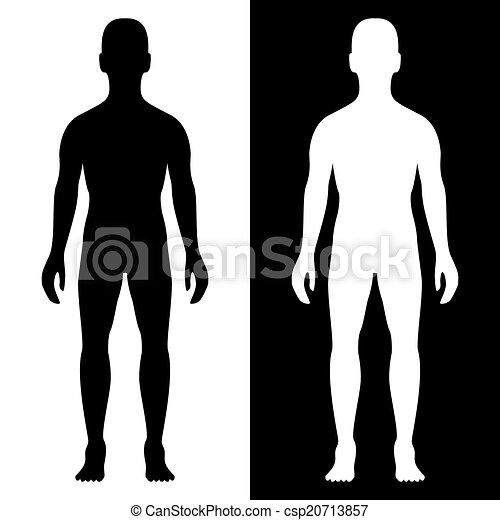 身体, 侧面影象, 人 - csp20713857