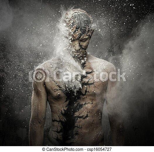 身体, 概念性, 精神上的艺术, 人 - csp16054727
